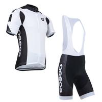 2014 White&black Bike Bicycle Clothing Cycling suit jersey/shorts(bib)/cycling wear men sportswear