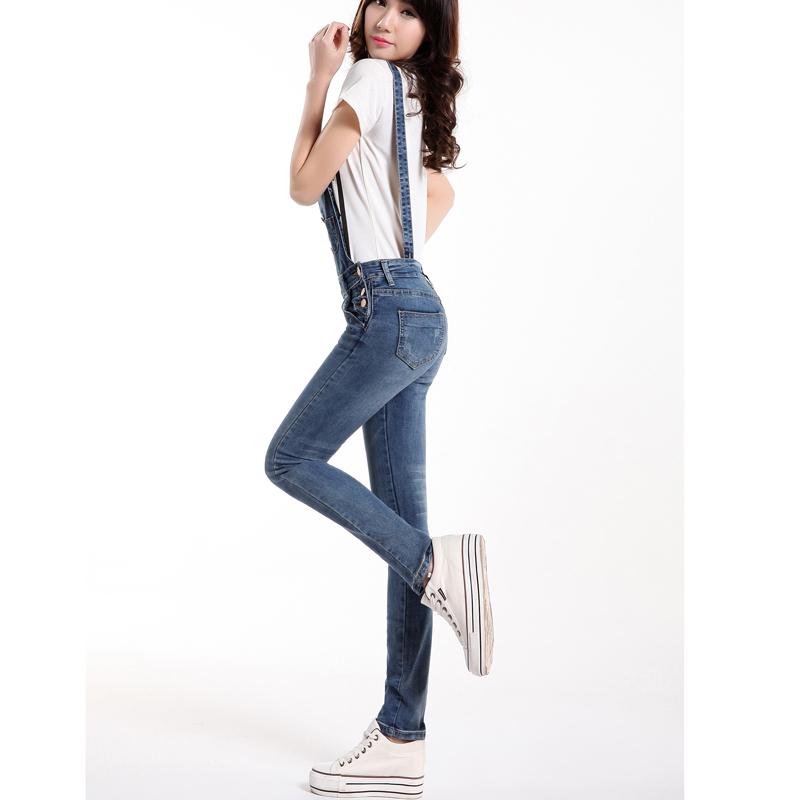 женщины извлекаемые ремешок джинсовые Комбинезоны &