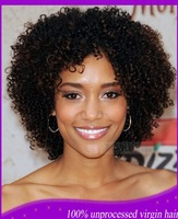 Short wig remy the best front lace glueless wig afro curly lace wig Indian human hair afro kinky curly lace wig for black women
