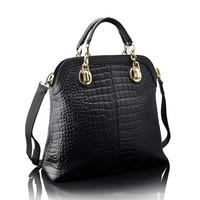 2014 New Totes Fashion Women Leather Handbag Genuine Leather Women Handbag Alligator Shoulder Bags Trendy Women Messenger Bags