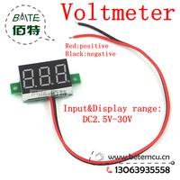 """1pcs  2.5V~30V DC Digital Display Voltmeter Three Bit Red 0.36 """"LED Voltage Meter"""