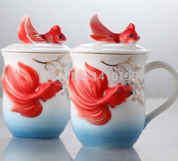 Frete grátis Novo Design huorse bonito esmalte procelain Cerâmica Cup / tigela cobrir Café Set, Presente de Natal atacadista(China (Mainland))