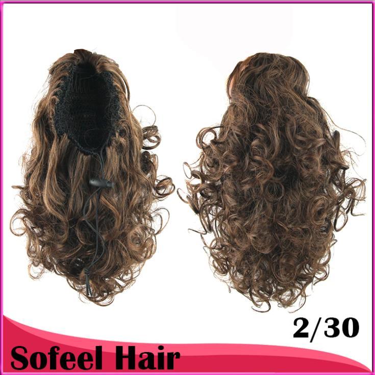 Локон волос хвостики, пони расширений хвост волос, шнурок расширения хвостик