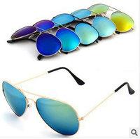 Fashion  models flying color reflective sunglasses JWF-003