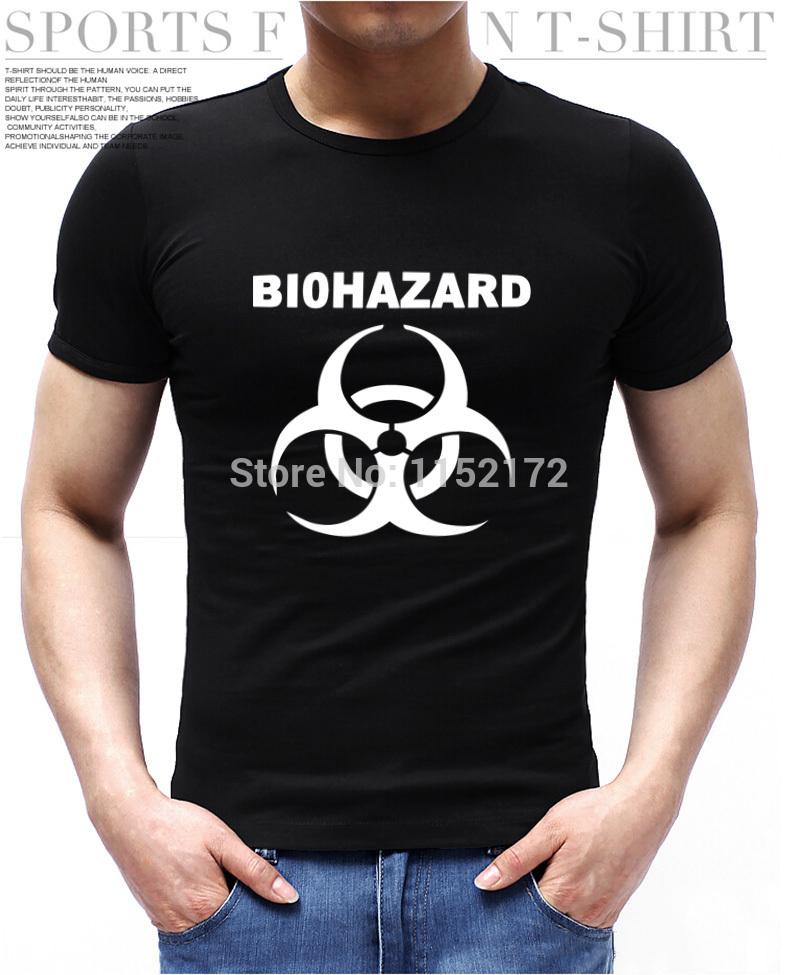 Popular Biohazard Design Resident Evil Umbrella T Shirt Short Sleeve Multicolor Men t-shirt Unique Logo Printing(China (Mainland))