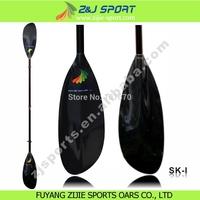Adjustable oval shaft sea kayak paddle