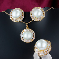 Good design simulated-pearl jewelery set for women wedding fashion accessories set the maid gift excellent present ALW1733