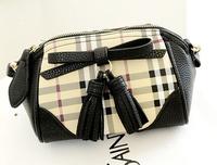 New arrival cute bag high quality PU leather shoulder bag designer small fringe bags black & white color clutch 5 colors