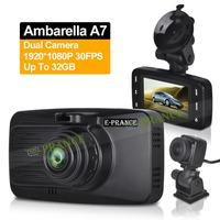 Ambarella A7 D37 Car DVR Dual Lens Camera Car Video Recorder Full HD 1080P 30FPS 120 Degree Wide Angle WDR Night Vision C1O