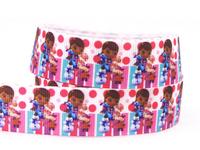 """7/8"""" (22mm)  Ribbon Doc Mcstuffins Printed Grosgrain Tape Cute Girl Ribbon For DIY Packing 50yard/lot"""