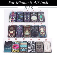 30pcs/lot Free Shipping Painting Back Hard Case for iPhone 6 4.7 inch