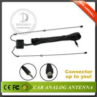 3.5mm earphone jack Free shipping car radio/TV antenna with 2 jacks optional