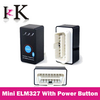 Top Quality! Super Mini ELM327 Bluetooth with Power Switch CAN-BUS OBDII ELM 327 Work on Android Symbian Windows