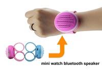Portable Stereo Bass Bracelet Vibrating Bangle Handsfree Mini Bluetooth Speaker Power Wrist Watch Style for Media Player