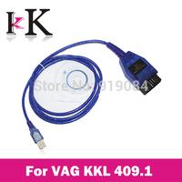 2014 Vag 409 VAG-COM 409.1 Vag Com 409.1 KKL OBD2 USB Cable Scanner Scan Tool Interface For Audi VW Kia Free Shipping