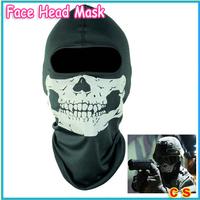 Free shipping+2014 New Skull Balaclava Traditional Face Head Mask Gator Black Hood