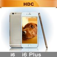 DHL Free Shipping HDC i6 plus Phone 5.5inch Metal MTK6582 Quad Core 2GB RAM Android 4.4 3G WCDMA IPS QHD/HD GPS