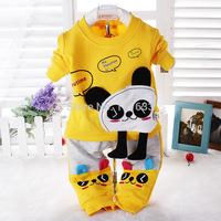 2014 Baby Set Boy Clothes In Autumn/Winter 0-2 Age Kids Sweater Pants Two-pieces Children Sport Suit T-shirt/Tops+Pant 0-2T