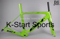 2014 NEW  Carbon Frame Road Bike Frame  BH G6 B6 green Carbon Frame+Fork+Seatpost+Clamp  extinction,bright finish