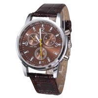 Brand new 2014 fashion casual men watches leather strap unisex women men quartz watch high quality sport watches wristwatch