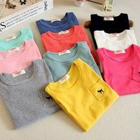 Min. Qty any 2pcs in my shop pls Size 100~140 Kids Tops tees boys girls dog Long Sleeves T shirt  Children T-Shirts