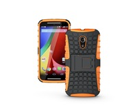 For Moto G2 Strong Tough Heavy Duty Tradesman TPU Silicone +PC Protective Phone Cases Cover With Stand Via Free DHL