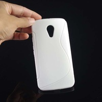 50pcs/lot&Free Shipping New S Line TPU back case For Motorola Moto G2 XT1063