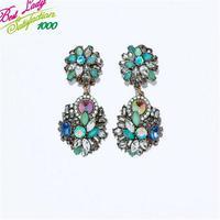 2014 New Arrival Fashion Statement Earring For Women za Brand Good Quality Gem Hotsale Women Earring 9253