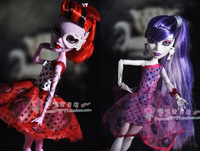 Free Shipping 3pcs/lot Genuine Monster High Clothing Dress 3-styles Clothes For Original Monster High Dolls
