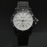 2014 Brand Curren Men Full Steel Quartz Watches 8099 Round Dial Date Wristwatch Fashion Sports Watch Best Gift
