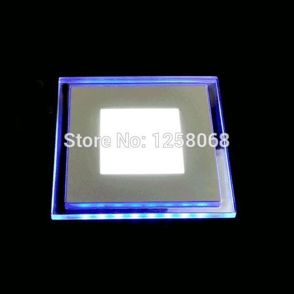 5x 10w/15w/20w recesso quadrado acrílico cristal levou painel de luz azul e branco ac85-265v ultra- shin levou mini-parede de luz de teto(China (Mainland))