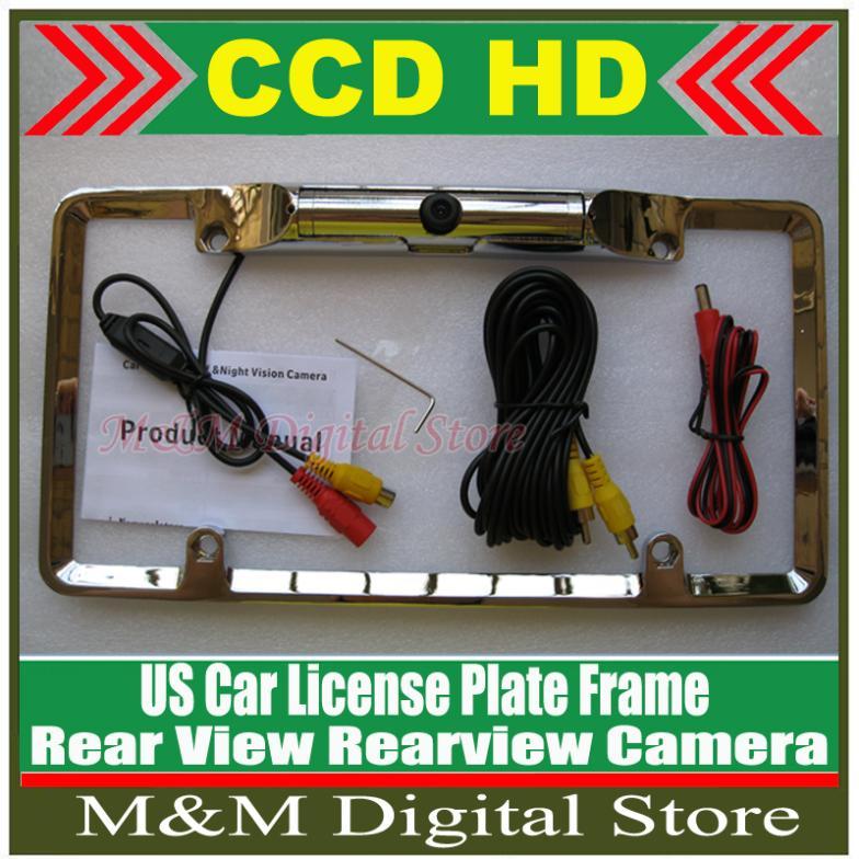 US Car Reversing License Plate Frame HD CCD Car Rear View Camera Reverse backup Camera rearview parking Waterproof Camera(China (Mainland))