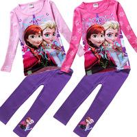 Brand Baby Girls Clothing Sets Girl T shirt Long Sleeve Tops Baby Clothing Princess Leggings Pants Children's Sets Kids Clothes