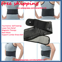 Free shipping (1pc) Tourmaline Adjustable Self-heating Lower Pain Relief Magnetic Therapy Back Waist Support Lumbar Brace Belt