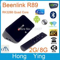 New Beelink R89 Android 4.4 TV Stick RK3288 Quad Core 4K TV Box 2GB 8GB Mali-T764 GPU Built-in MIC BT 4.0 XBMC Media TV Player