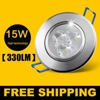 5pcs/ lot 15W Ceiling downlight Epistar LED ceiling lamp Recessed Spot light 85V-245V for home illumination Freeshipping