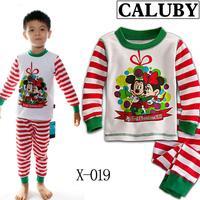 2014 autumn / winter Christmas Frozen 2-7T BABY kids Clothing 2 piece suit Pyjamas Pleasant Mickey/Minnie Cotton Homewear X-019