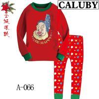 2014 autumn / winter Christmas Frozen 2-7T BABY & kids Clothing 2 piece suit Pyjamas Pleasant BE HAPPY Cotton Homewear 066