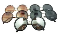 Unisex Women Men Vintage Round Sunglasses with sunglasses case Wholesaler 10 colors 10pcs/lots