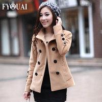 FYOUAI NEW Autumn Women Jacket Temperament Women's Wool Coat Short Slim jacket High Quality Female Coat