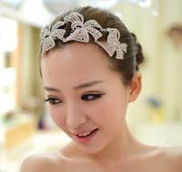 Hair accessories Wedding Bridal Rhinestone Crystal Bowknot Hair Comb
