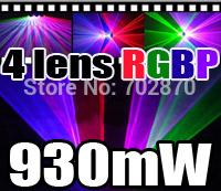 Factory price! 1000mW 1W 450nm Single Blue Beam DJ lighting and 4 lens 930mW RGBP laser light