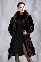 Winter 2014 new female loose imitation mink fur coat jacket with large fat lady mm new mink cashmere coat