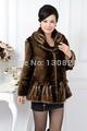 2014 Middle-aged women's autumn and winter high-grade imitation Mink Fur Coat Jacket large Size