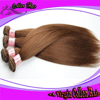 """2014 Arrival 6A Quality No Any processed Collen hair, brazil hair brown color 4 hair  weft extensions12""""-30""""  Straight hair"""