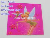 Food-grade Barbie Presents Thumbelina Paper Napkin Cartoon Festive & Party Tissue Party Decoration Paper 33cm*33cm 1pack/lot