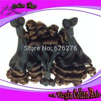 "2014 Arrival 7A Quality Collen Hair, Brazil hair Ombre #1b/#27 funmi hair extensions12""-30"""