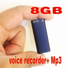 New arrival!The lightest weight,and smallest, 2 in 1 Mini 8GB 8G Digital Audio Voice Recorder +Mp3 Free Shipping(China (Mainland))