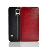 Top Quality Genuine Leather Flip Cover for Samsung Galaxy S5 GT I9600 ultra slim phone case Stand 3 Card holder Light Weight
