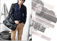 Fashion 2014 New Tactiacl Desigers Leather Large Casual Vintage Men Messenger Crossbody Bags Shoulder Bag Brand Handbags